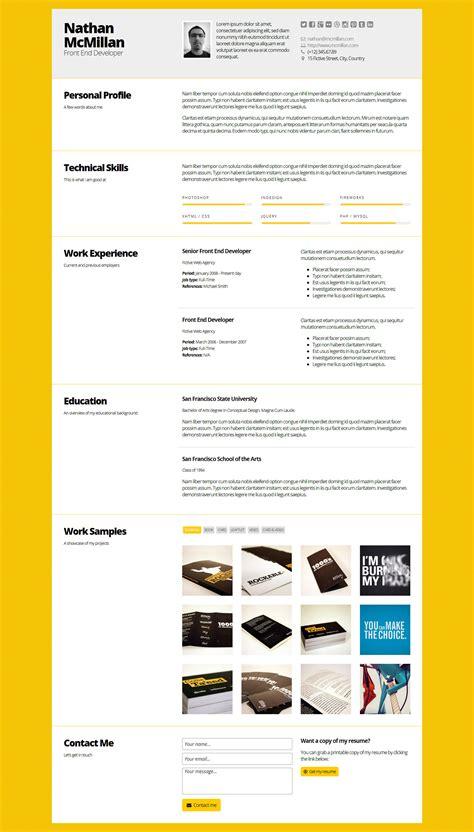 themeforest resume themeforest curriculum responsive one page portfolio