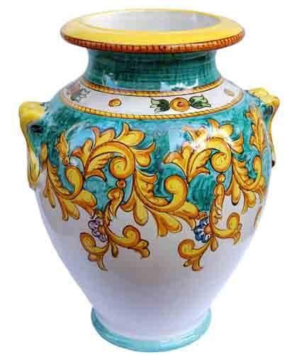 vasi vietri oggettistica solimene ceramica vietri sul mare the