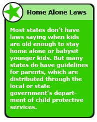 leaving your child home alone kidshealth for parents