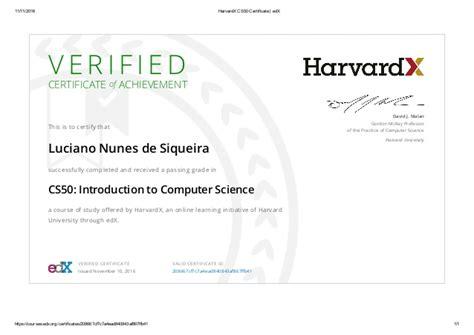 Edx Mba by Harvardx Cs50 Certificate Edx