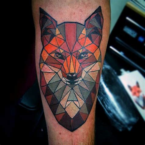 tattoo geometric fox 318 best tattoos foxes images on pinterest