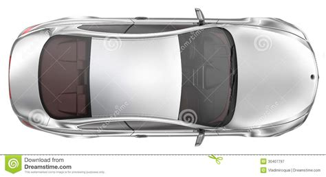vehicle top view elegant sport coupe car top view stock illustration