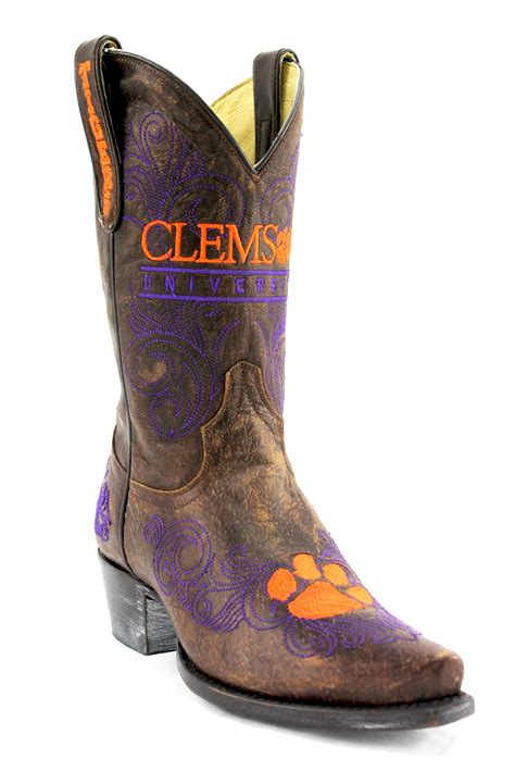clemson cowboy boots gameday boots s clemson leather boot