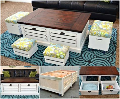 wine crate coffee table diy ideas how to diy wine crate coffee table