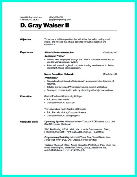 Corporate Trainer Resume Can Be In Chronological Or Reverse Chronologic Style As Both Of Them Corporate Resume Template Free