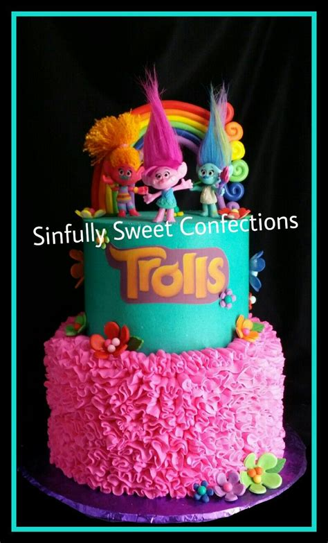 Cloud Stickers For Walls trolls birthday cake sinfully sweet confections
