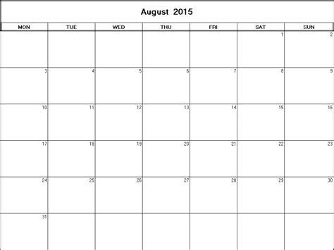 printable calendar 2015 august december august 2015 printable blank calendar calendarprintables net