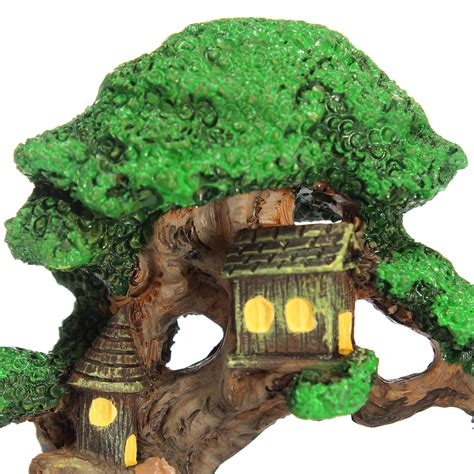elf house on a tree miniature gardening ornaments micro elf tree house