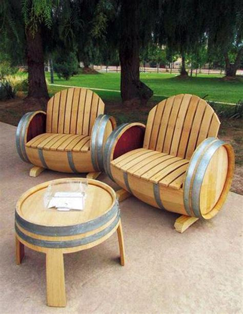 whiskey barrel chairs easy wooden barrel projects whiskey barrel coffee table
