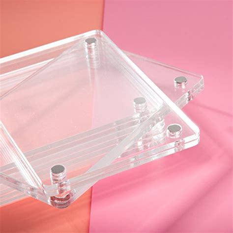 CAIUL Compatible Clear Acrylic Fridge Magnetic Frame ... Fridge Magnet Toys