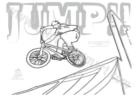 bmx bike colouring pictures printable coloring pages