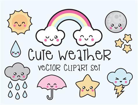 kawaii clipart when i call premium vector clipart kawaii weather