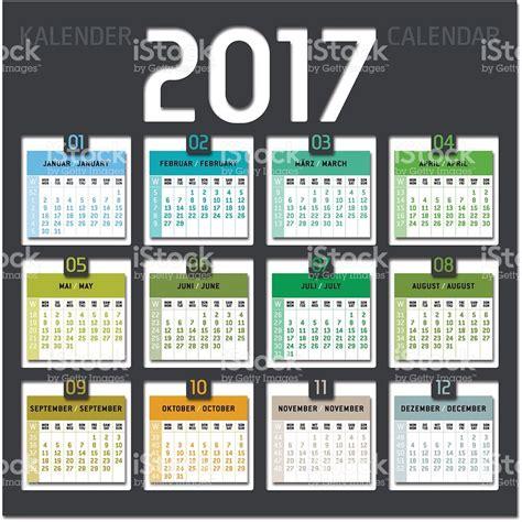 calendario de 2017 semanas illustracion libre de derechos