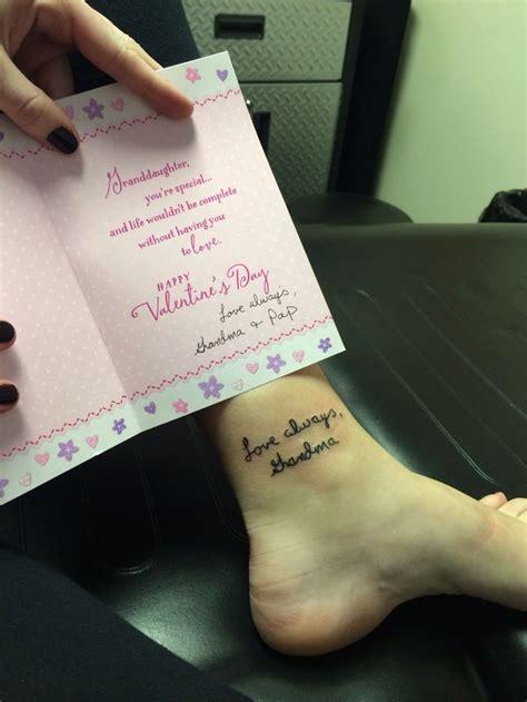 memory tattoos for grandma memory pinteres