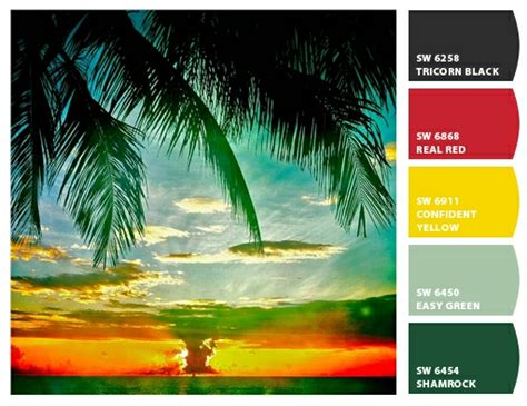 what colors do you need in your tropical sun design