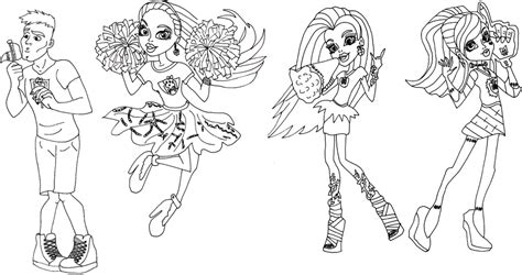 monster high ghouls coloring pages coloring page of monster high ghouls spirit for kids
