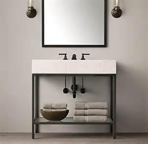 60 Inch Sink Vanity Restoration Hardware Hudson Metal Single Washstand