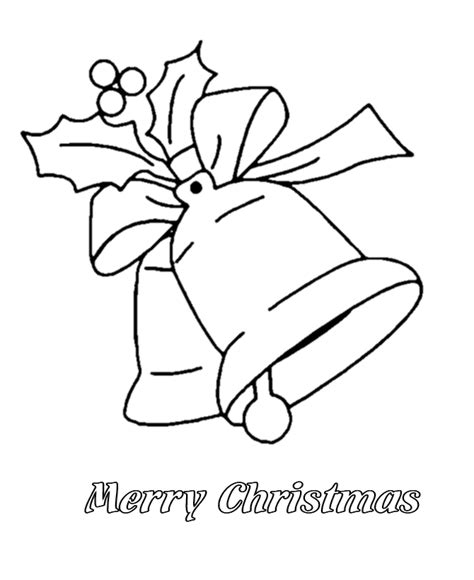 Bluebonkers Christmas Bells And Merry Christmas Coloring Merry Text Coloring Pages