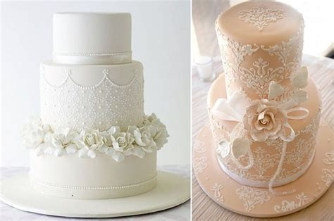 Lace Templates For Cakes by Stencilled Lace Wedding Cakes Cake Magazine