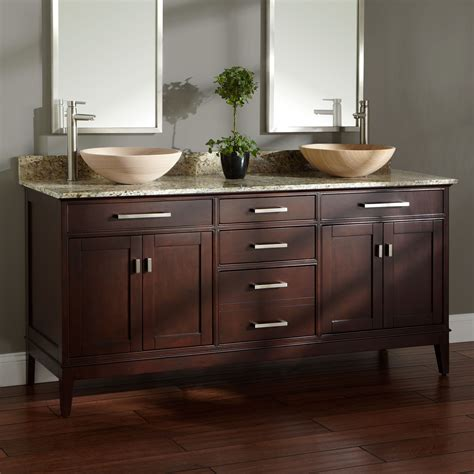 vanity bathroom sinks 72 quot light espresso madison double vessel sink vanity