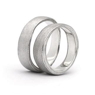 Eheringe Natur by Trauringe In 925 Silber Natur Damenring Herrenring 6mm