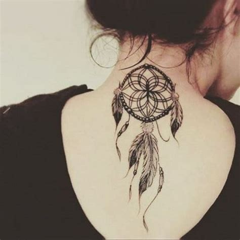 dreamcatcher tattoo down back 55 attractive back of neck tattoo designs for creative