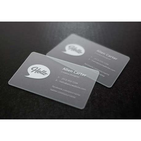 frosted business card template frosted business cards frosted plastic business card