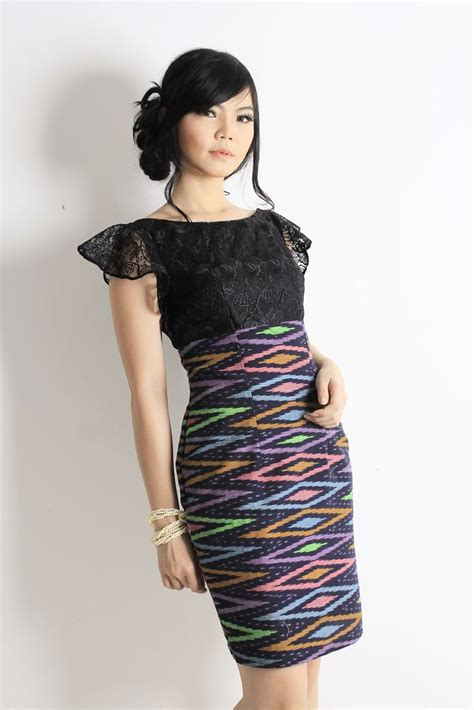 Dress Batik Tenun ikat dress kebaya dress shoulder dress tenun rang rang tenun ikat rupeshwari ikat