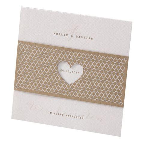 Einladungskarten Hochzeit by Hochzeitseinladung Quot Elli Quot Mit Kraftpapier Banderole