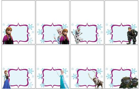 printable frozen food tents 7 best images of free frozen printable food tents disney