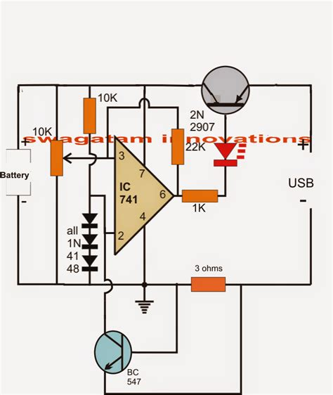 usb battery charger circuit usb li ion battery charger circuit auto cut and