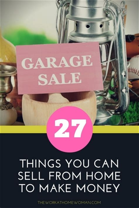 27 things you can sell from home to make money
