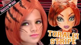 toralei stripe monster doll costume makeup tutorial halloween cosplay