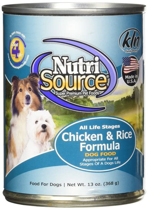 chicken and rice for dogs 19 tuffy s pet food 131300 tuffy nutrisource 12 pack chicken and rice canned