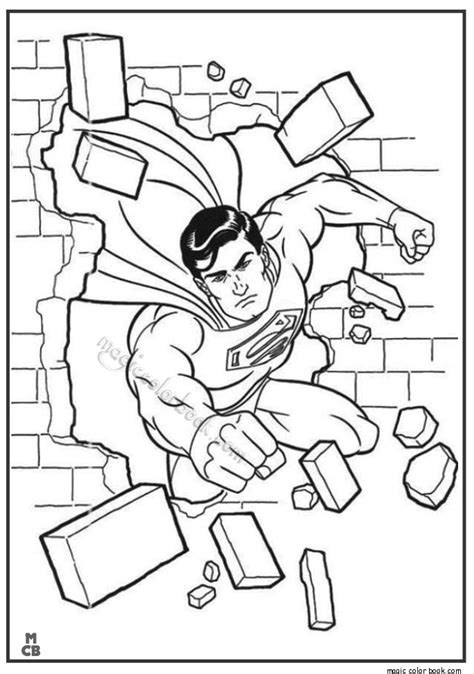 pin coloring pages superman 08 free printable page on