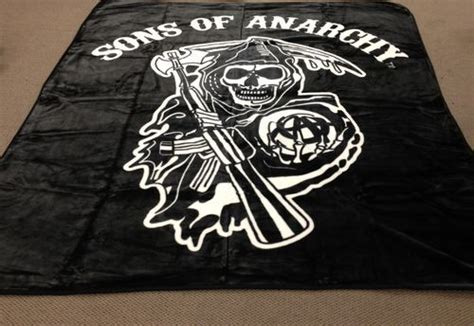 sons of anarchy bed set new licensed queen size sons of anarchy soa sam crow mink