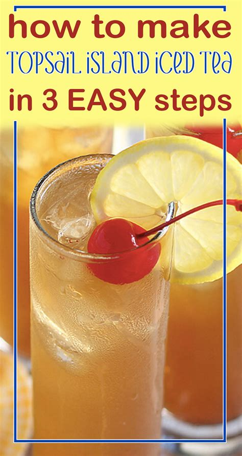 how to make topsail island iced tea in 3 easy steps