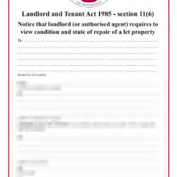Section Report Template section 11 notice of inspection to tenant