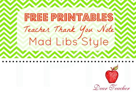 printable thank you notes to teachers 8 best images of student thank you notes printable free