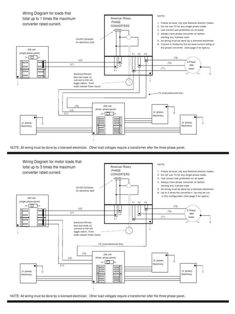 ronk phase converter wiring diagram circuit and