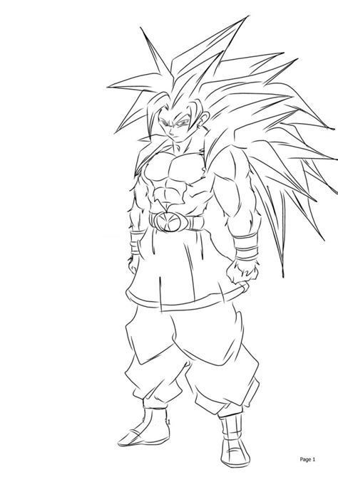Goku Saiyan 5 Coloring Pages printable goku coloring pages coloring me