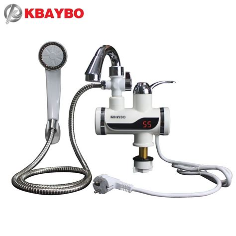 Kitchen Faucet Discount 3000w Temperature Display Instant Water Tap Tankless