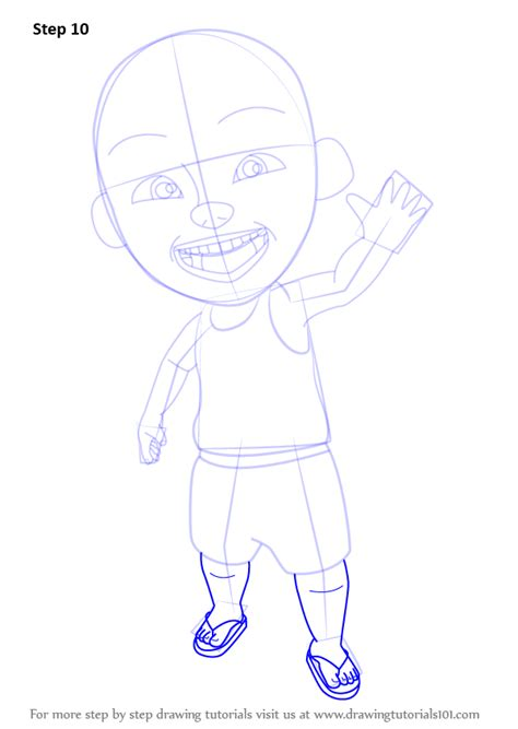 tutorial menggambar upin ipin step by step how to draw ipin from upin ipin