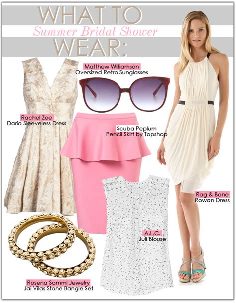 What To Wear To Wedding Shower by What To Wear Summer Bridal Shower Style Guide