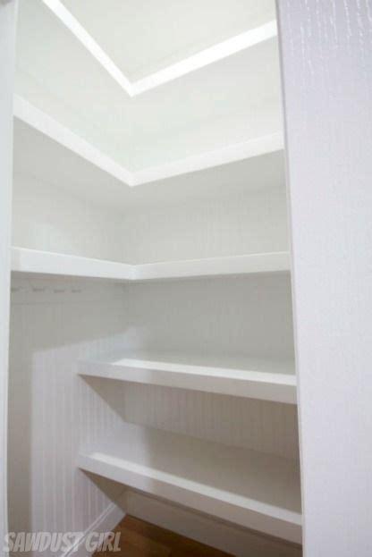 hall closet  floating shelves deep closet floating