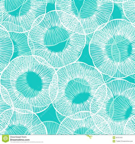 Vintage Boho Home Decor vector pattern with stylized flowers in thin lines stock