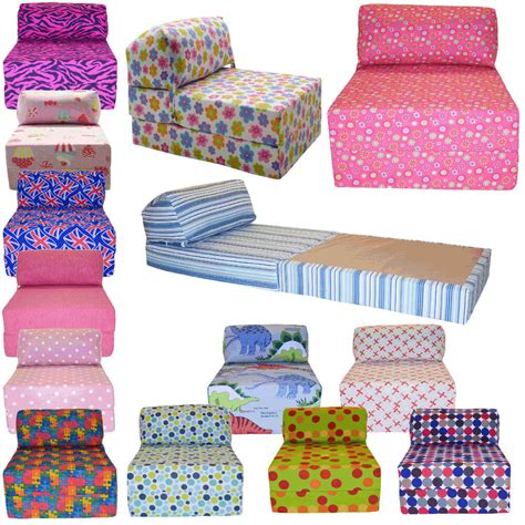 Fold Out Chair Bed by Cotton Print Single Chair Bed Z Guest Fold Out Futon Sofa