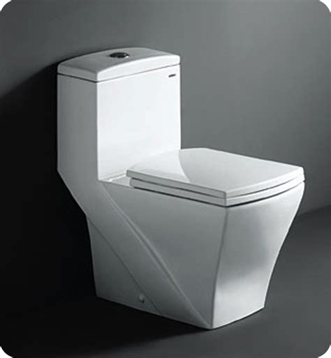 Square Toilet by Fresca Ftl1018 Salerno One Piece Dual Flush Square Toilet