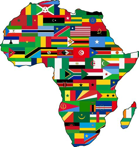 africa map flags clipart africa flags