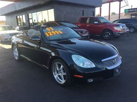 car owners manuals for sale 2003 lexus sc on board diagnostic system 2003 lexus sc 430 for sale carsforsale com